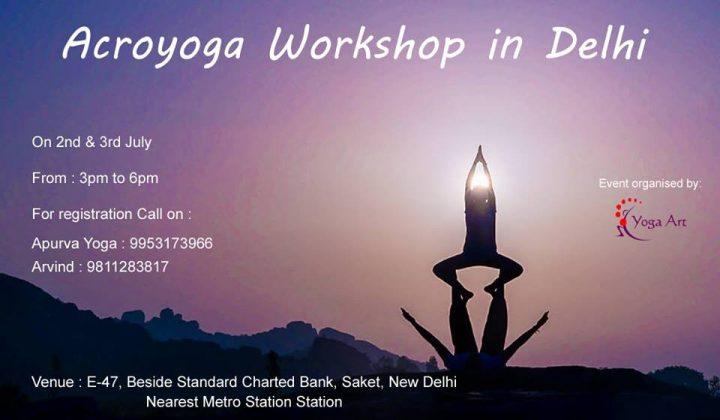 Acroyoga Workshop in Delhi by Pradeep Mehta - Instructor Trainer Teacher - Yoga - Health Fitness India - 1