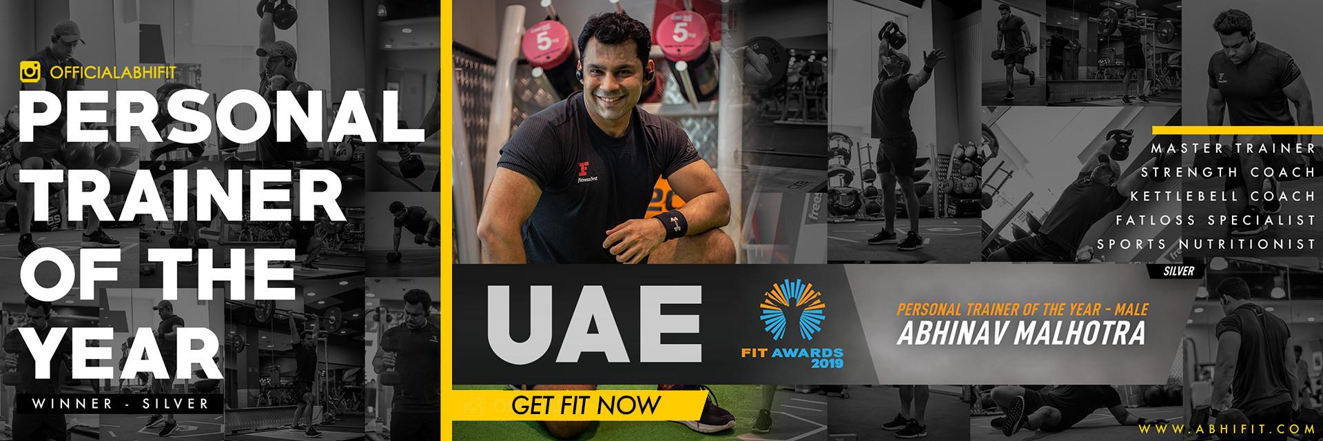 Abhinav Malhotra - Best Personal Trainer of UAE Dubai Abu Dhabi All Emirates - Health Fitness India