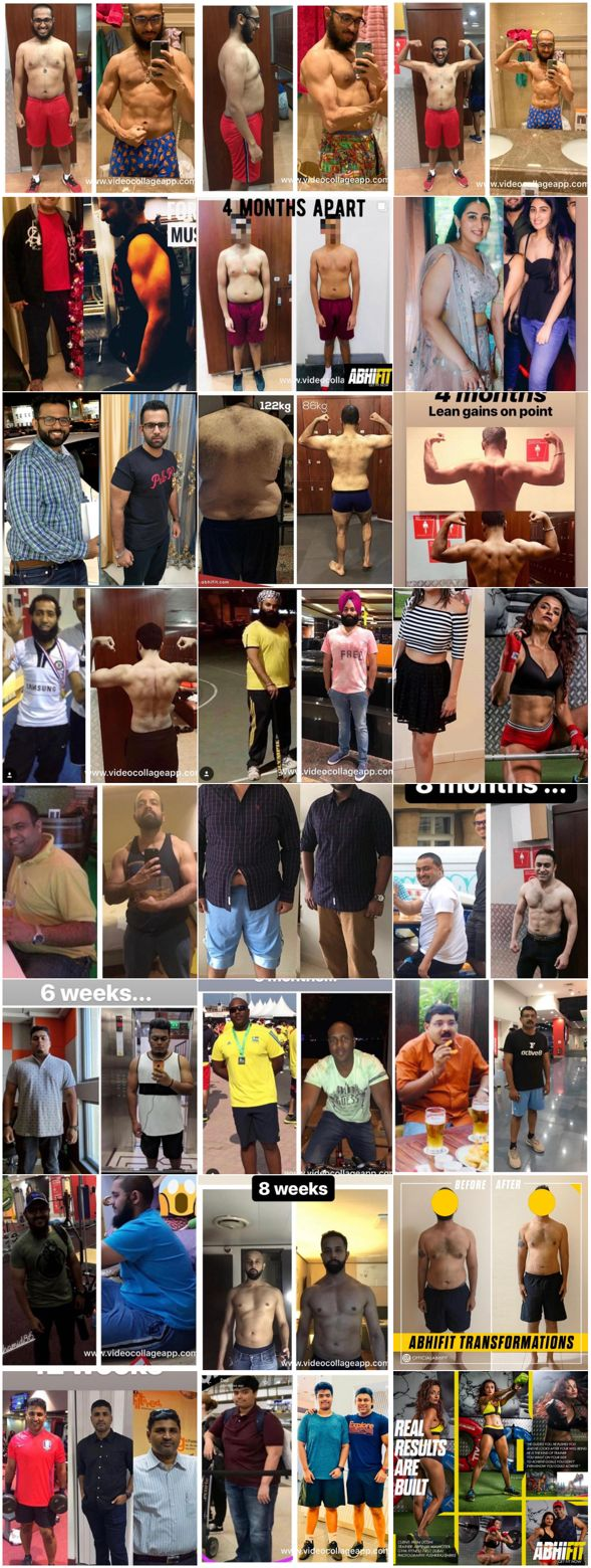 Client Transformations - The Best Personal Fitness Trainer in Dubai UAE