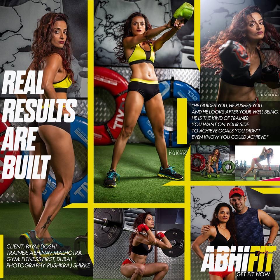 Dubai Personal Trainer Abhinav Malhotra Fitness First Gym Client Testimonial Payal Doshi