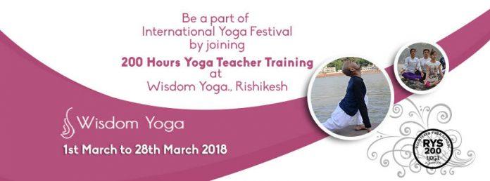 Yoga Teacher Training Center Rishikesh India - International Yoga Festival March 2018 - Wisdom Yoga by Master Tilak Rishi