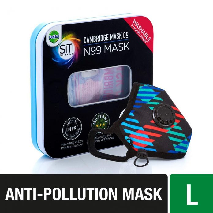 Dettol Cambridge Pro N99 Anti-Pollution Mask - Newton Large - Health Fitness India