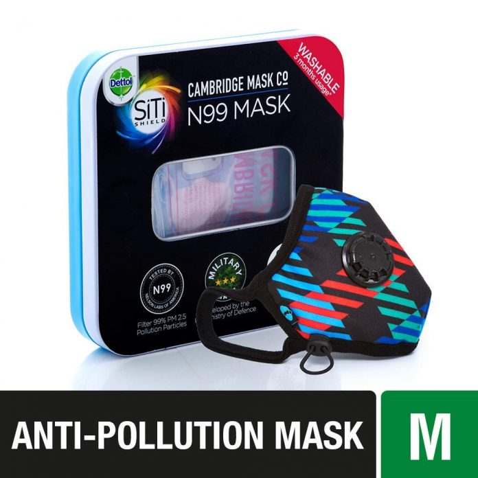 Dettol Cambridge Pro N99 Anti-Pollution Mask - Newton Medium - Health Fitness India