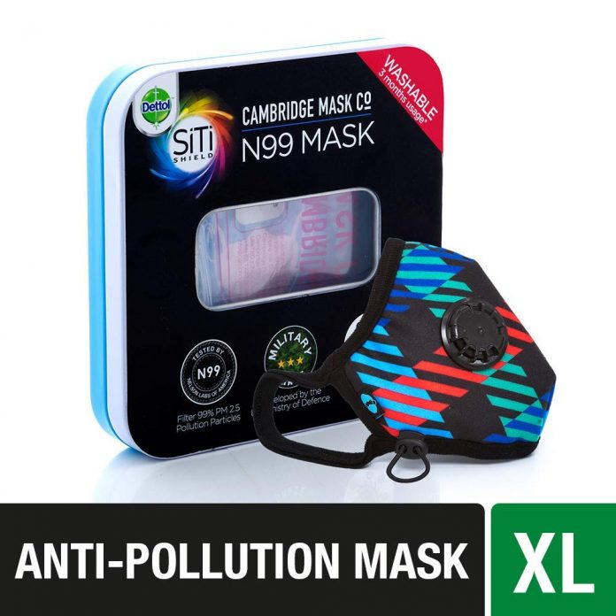 Dettol Cambridge Pro N99 Anti-Pollution Mask - Newton XL - Health Fitness India