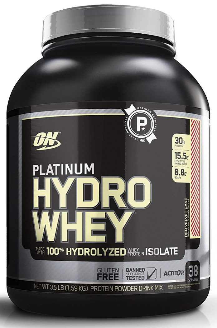 Optimum Nutrition PLATINUM HYDRO WHEY, 3.5 lb supercharged strawberry - Health Fitness India